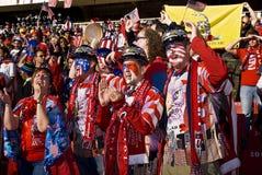 Υποστηρικτές ΑΜΕΡΙΚΑΝΙΚΟΥ ποδοσφαίρου - WC 2010 της FIFA Στοκ Εικόνες