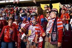 Υποστηρικτές ΑΜΕΡΙΚΑΝΙΚΟΥ ποδοσφαίρου - WC 2010 της FIFA Στοκ Φωτογραφίες