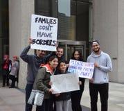 Υποστηρικτές Μάρτιος Ajin Yousef στο Ντιτρόιτ στοκ φωτογραφία με δικαίωμα ελεύθερης χρήσης