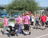 Υποστηρικτές περιπάτων καρκίνου του μαστού Στοκ Εικόνες