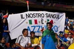 Υποστηρικτές ποδοσφαίρου της Ιταλίας - WC 2010 της FIFA Στοκ φωτογραφία με δικαίωμα ελεύθερης χρήσης
