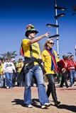 Υποστηρικτές ποδοσφαίρου - WC 2010 της FIFA Στοκ φωτογραφία με δικαίωμα ελεύθερης χρήσης