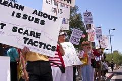 υποστηρικτές obama επίδειξης στοκ εικόνα με δικαίωμα ελεύθερης χρήσης