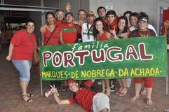 Υποστηρικτές Potugal Στοκ εικόνες με δικαίωμα ελεύθερης χρήσης