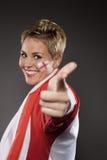 Υποστηρικτής Αγγλία οπαδών αθλήματος ποδοσφαίρου Στοκ φωτογραφία με δικαίωμα ελεύθερης χρήσης