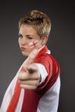 Υποστηρικτής Αγγλία οπαδών αθλήματος ποδοσφαίρου Στοκ Φωτογραφία