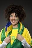 Υποστηρικτής Βραζιλία οπαδών αθλήματος ποδοσφαίρου Στοκ Εικόνες