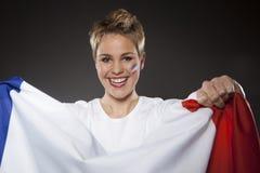 Υποστηρικτής Γαλλία οπαδών αθλήματος ποδοσφαίρου Στοκ Εικόνα
