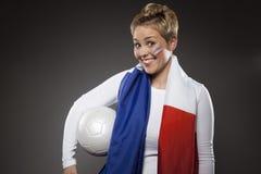 Υποστηρικτής Γαλλία οπαδών αθλήματος ποδοσφαίρου Στοκ φωτογραφία με δικαίωμα ελεύθερης χρήσης