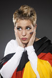 Υποστηρικτής Γερμανία οπαδών αθλήματος ποδοσφαίρου Στοκ Εικόνα