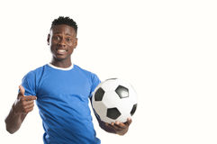 Υποστηρικτής οπαδών ποδοσφαίρου στο άσπρο υπόβαθρο Στοκ εικόνες με δικαίωμα ελεύθερης χρήσης
