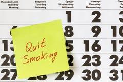 Υποσχεθείτε το εγκαταλειμμένο κάπνισμα Στοκ Εικόνα