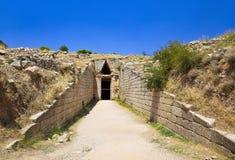 Υπουργείο Οικονομικών στην πόλη Mycenae, Ελλάδα στοκ εικόνες