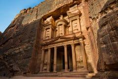 Υπουργείο Οικονομικών στη Petra στοκ εικόνες