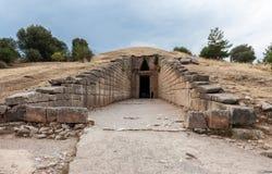 Υπουργείο Οικονομικών του τάφου Atreus Agamemnon Mycenae Ελλάδα στοκ φωτογραφίες