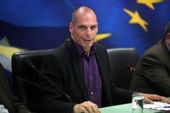 Υπουργός Οικονομικών Yanis Varoufakis στοκ εικόνα