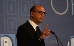 Υπουργός Angelino Alfano Στοκ Φωτογραφία