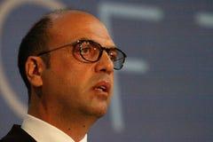 Υπουργός Angelino Alfano Στοκ εικόνες με δικαίωμα ελεύθερης χρήσης