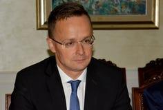 Υπουργός Peter Szijjarto στοκ φωτογραφία με δικαίωμα ελεύθερης χρήσης