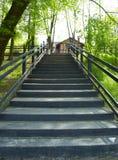 υποχωρώντας βήματα επαρχί&al Στοκ Εικόνες