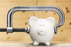 Υποχώρηση τράπεζας Piggy Στοκ φωτογραφία με δικαίωμα ελεύθερης χρήσης
