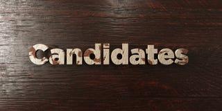 Υποψήφιοι - βρώμικος ξύλινος τίτλος στο σφένδαμνο - τρισδιάστατο δικαίωμα ελεύθερη εικόνα αποθεμάτων ελεύθερη απεικόνιση δικαιώματος
