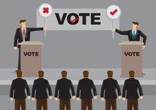Υποψήφιοι στη συζήτηση για τη διανυσματική απεικόνιση εκλογής ελεύθερη απεικόνιση δικαιώματος
