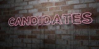 ΥΠΟΨΗΦΙΟΙ - Καμμένος σημάδι νέου στον τοίχο τοιχοποιιών - τρισδιάστατο δικαίωμα ελεύθερη απεικόνιση αποθεμάτων ελεύθερη απεικόνιση δικαιώματος