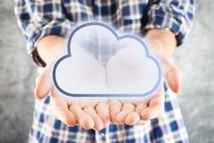 Υπολογίζοντας υπηρεσία σύννεφων Στοκ φωτογραφία με δικαίωμα ελεύθερης χρήσης