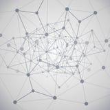 Υπολογισμός σύννεφων και έννοια δικτύων Στοκ Φωτογραφία