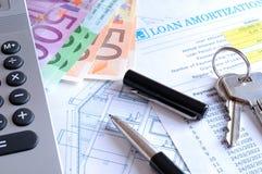 Υπολογισμός του ενυπόθηκου δανείου στοκ φωτογραφία με δικαίωμα ελεύθερης χρήσης