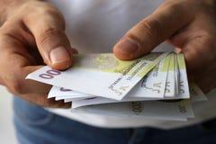 Υπολογισμός χρημάτων Στοκ Εικόνες