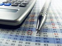 Υπολογισμός χρηματιστηρίου Στοκ Φωτογραφία