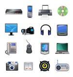 Υπολογιστές και εικονίδια ηλεκτρονικής Στοκ εικόνα με δικαίωμα ελεύθερης χρήσης