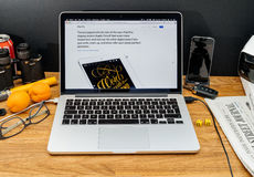 Υπολογιστές της Apple στις πιό πρόσφατες ανακοινώσεις WWDC του μολυβιού της Apple και Στοκ φωτογραφίες με δικαίωμα ελεύθερης χρήσης