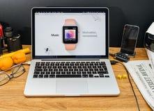 Υπολογιστές της Apple στο πιό πρόσφατο ρολόι OS της Apple ανακοινώσεων WWDC appl Στοκ φωτογραφία με δικαίωμα ελεύθερης χρήσης