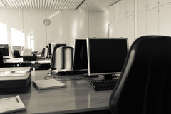 Υπολογιστής επιχειρησιακών αιθουσών whith Στοκ φωτογραφία με δικαίωμα ελεύθερης χρήσης