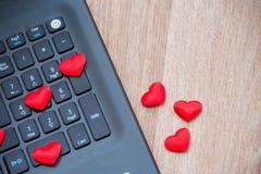 Υπολογιστής και αγάπη στοκ εικόνες