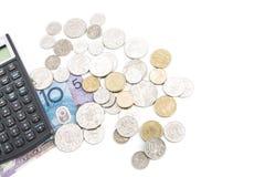 Υπολογιστής και χρήματα Στοκ Εικόνες