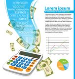 Υπολογιστής και χρήματα Στοκ εικόνα με δικαίωμα ελεύθερης χρήσης