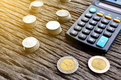 Υπολογιστής με τα χρήματα Στοκ Φωτογραφία
