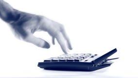 Υπολογιστής με το χέρι απόθεμα βίντεο