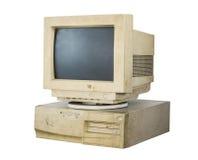 Υπολογιστής που απομονώνεται παλαιός Στοκ Εικόνα