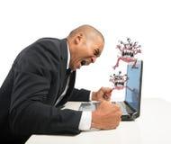 Υπολογιστής που συντρίβεται Στοκ Εικόνα