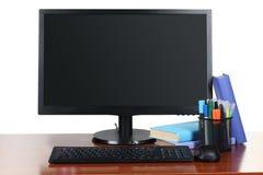 Υπολογιστής στον υπολογιστή γραφείου στοκ φωτογραφία με δικαίωμα ελεύθερης χρήσης