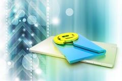 Υπολογιστής ταμπλετών με το ηλεκτρονικό ταχυδρομείο Στοκ φωτογραφία με δικαίωμα ελεύθερης χρήσης
