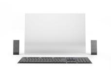 Υπολογιστής του μέλλοντος στο άσπρο υπόβαθρο Στοκ Φωτογραφία
