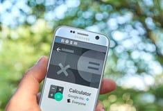 Υπολογιστής app Google Στοκ φωτογραφία με δικαίωμα ελεύθερης χρήσης