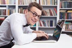 Υπολογιστής geek. Στοκ Εικόνες