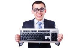 Υπολογιστής geek nerd Στοκ Φωτογραφίες